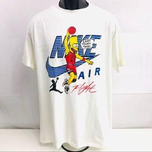 Unbranded Shirts - Rare Vintage Nike Air Jordan Bart Simpson T-Shirt